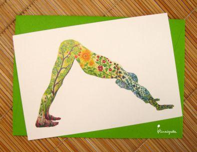 illustration 1 pour le portfolio serie-de-cartes-yoga